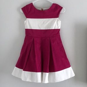 Kate Spade pink and white girls dress size 10